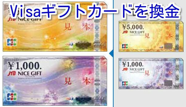 Visaギフトカードを換金する方法